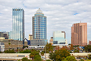 View of financial buildings along the Tampa, Florida skyline