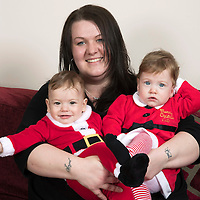 Josie Pafitt pictured with her 'miracle' twins Ollie and Hope who have just celebrated their first birthday…16.12.16<br />