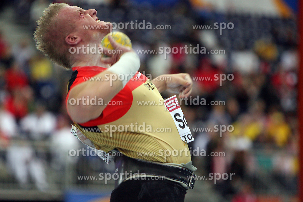 Marco Schmidt of Germany in the Shot Put men Qualification at the 2nd day of  European Athletics Indoor Championships Torino 2009 (6th - 8th March), at Oval Lingotto Stadium,  Torino, Italy, on March 6, 2009. (Photo by Vid Ponikvar / Sportida)