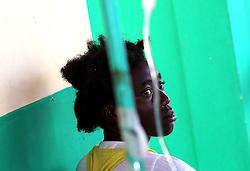 October 9, 2016 - HTI - Nolan Hyppolite, 24, seeks help at a Cholera clinic at Port Salut Hospital HCR on Sunday, Oct. 9, 2016 in Haiti. (Credit Image: © Patrick Farrell/TNS via ZUMA Wire)