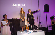 Pam Hogg, Griff Rhys Jones and Saffron Burrows. The Almeida Theatre Charity Christmas Gala, to raise funds for the theatre, at the Victoria Miro Gallery, London.  1 December  2005. ONE TIME USE ONLY - DO NOT ARCHIVE  © Copyright Photograph by Dafydd Jones 66 Stockwell Park Rd. London SW9 0DA Tel 020 7733 0108 www.dafjones.com