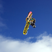 Masakaze Yoshida, Japan, in action during the Men's Half Pipe Qualification in the LG Snowboard FIS World Cup, during the Winter Games at Cardrona, Wanaka, New Zealand, 27th August 2011. Photo Tim Clayton..