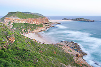 The rugged coastline of the Robberg Nature Reserve and Marine Protected Area; Western Cape; South Africa
