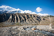 White peaks in the Himalayas (Nepal)