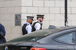 © Licensed to London News Pictures. 23/02/2019. London, UK. Police Officers outside The East London Mosque in Whitechapel, East London as security has been stepped up around Mosques following Christchurch attack in which 49 people died following a shooting at two mosques and a man in his late twenties has been charge with murder. Photo credit: Dinendra Haria/LNP