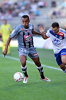 FOOTBALL - FRENCH CHAMPIONSHIP 2012/2013 - L1 - OLYMPIQUE LYONNAIS v AC AJACCIO - 16/09/2012 - PHOTO EDDY LEMAISTRE / DPPI - STEED MALBRANQUE (OL) AND EDUARDO (ACA)