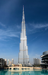 View of new skyline of Dubai with Burj Khalifa tower in United Arab Emirates UAE Middle East