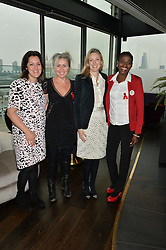 Left to right, mothers2mothers European Director Emma France EMMA FRANCE, AMANDA BRETHERTON President of Next Model Management, STEPHANIE PHAIR president of the OUTNET.COM and JOHANNA SATEKGE at the mothers2mothers World AIDS Day VIP Lunch with Next Management & THE OUTNET.COM held at Mondrian London, 19 Upper Ground, London on 1st December 2014.