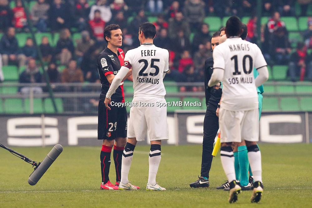 Romain DANZE / Julien FERET  - 25.01.2015 - Rennes / Caen  - 22eme journee de Ligue1<br /> Photo : Vincent Michel / Icon Sport *** Local Caption ***