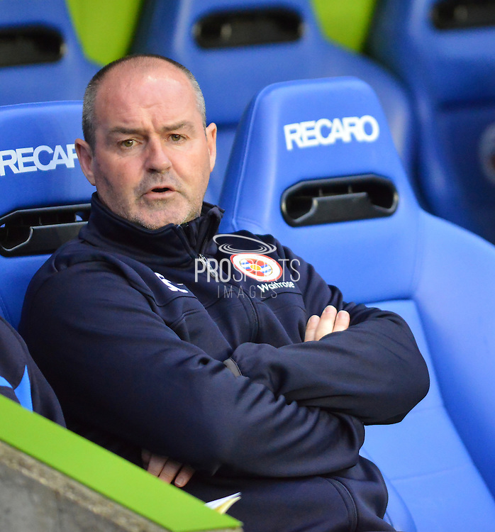 Reading's Manager Steve Clarke during the Sky Bet Championship match between Reading and Birmingham City at the Madejski Stadium, Reading, England on 22 April 2015. Photo by Mark Davies.