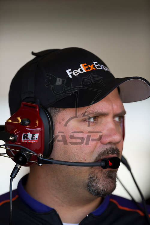 INDIANPOLIS, IN - JUL 28, 2012:  The NASCAR Sprint Cup Series take to the track for a practice session for the Curtiss Shaver 400 presented by Crown Royal at the Indianapolis Motor Speedway in Indianapolis, IN.