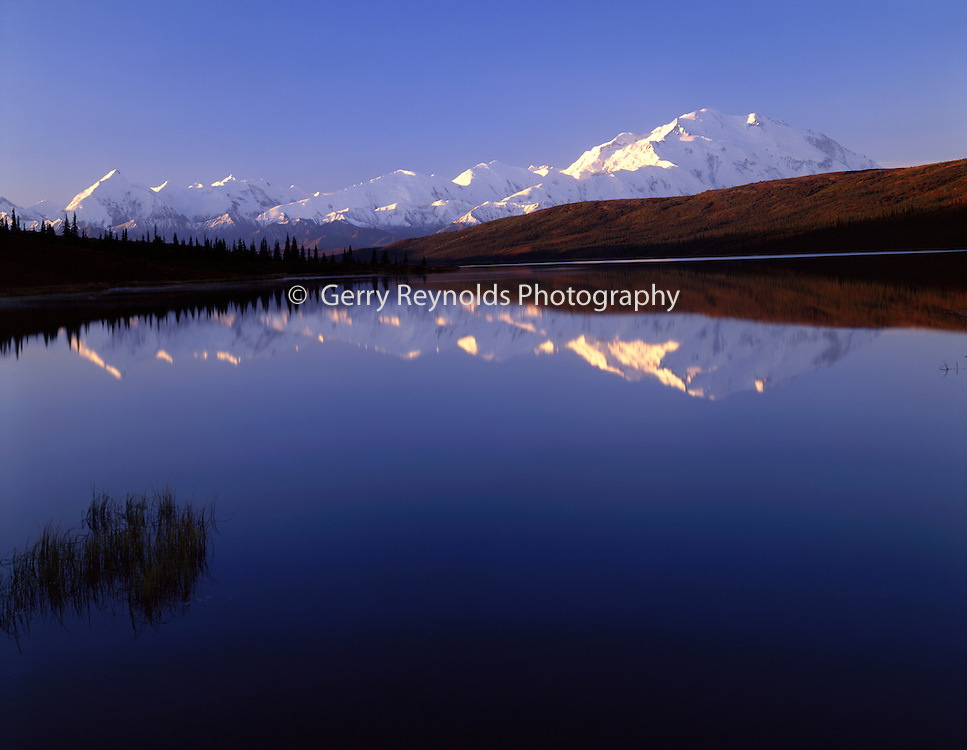Sunrise, Wonder Lake, reflection, Mt. McKinley, Mount McKinley, Denali, Denali National Park, National Park, Alaska, Alaska Range
