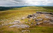 Upland  granite landscape near Haytor, Dartmoor national park, Devon, England, UK