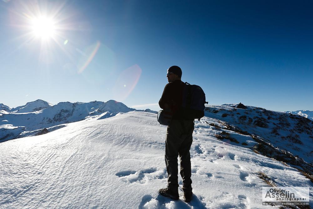 Pic de la Calabasse (2210 metres), near Saint-Lary, Pays Couserans, Ariege, Pyrenees, France.