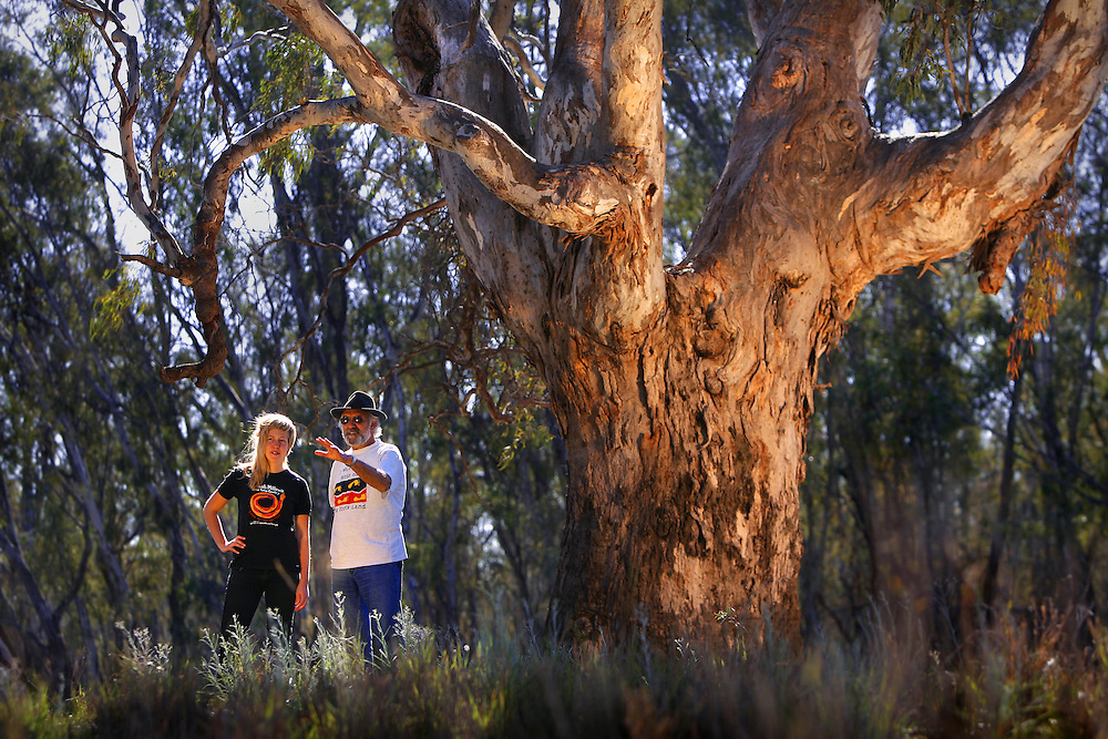 Wayne Atkinson, Yorta-Yorta - Dja-Dja Wurrung elder,and Allegra Curr, descendant of Edmund Curr, first squatter in the area, A recent government report has recommended making the area around Barmah into four national parks, to protect the world s last big redgum forest, which is currently dying.   Pic By Craig Sillitoe 20070906 SPECIALX 000 melbourne photographers, commercial photographers, industrial photographers, corporate photographer, architectural photographers, This photograph can be used for non commercial uses with attribution. Credit: Craig Sillitoe Photography / http://www.csillitoe.com<br />