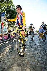 Bradley Wiggins wins the Tour de France in Paris, Sunday, 22nd July 2012.  Photo by:  i-Images / Bureau233