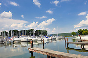 Boats at Treman State Park