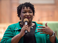 November 01, 2018 - Woodstock, Georgia, U.S. -  STACEY ABRAMS, Democratic candidate for governor of Georgia, rallies supporters at a Get Out the Vote rally at the Allen Temple AME.(Credit Image: © Brian Cahn/ZUMA Wire)