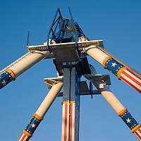 Amusement park attraction, close up, Six Flags, Chicago, Illinois