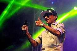 MC Guimé no palco pretinho do Planeta Atlântida 2014/RS, que acontece nos dias 07 e 08 de fevereiro de 2014, na SABA, em Atlântida. FOTO: Vinícius Costa/ Agência Preview