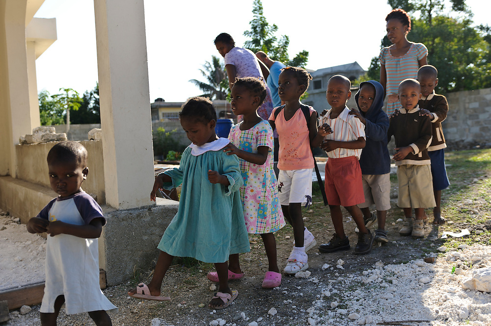 Young children at an orphanage supported by EDV, Port-au ...