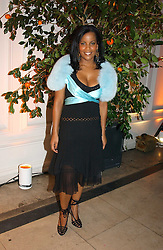 A party hosted by Mario Testino, Bianca Jagger and Kenneth Cole in collaboration with UNFPA and Marie Stopes International to celebrate the publication of Women to Woman: Positively Speaking - a book to raise awareness of women living with HIV/Aids, held at The Orangery, Kensington Palace, London on 2nd December 2004.<br />Picture shows:-  Soul singer NINA JAYNE.<br /><br />NON EXCLUSIVE - WORLD RIGHTS