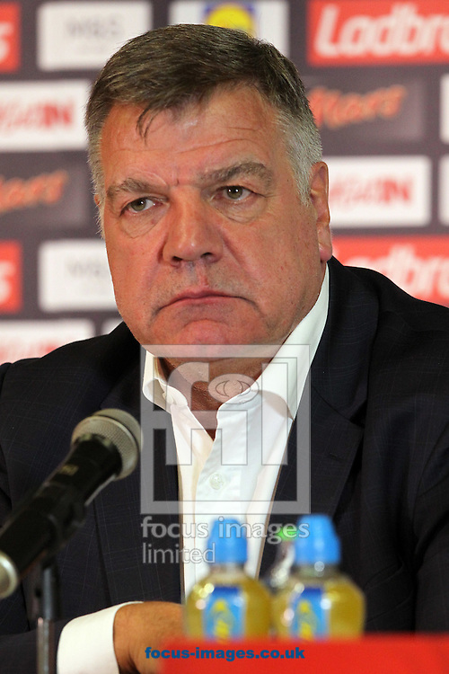England manager, Sam Allardyce, has left his post following a meeting of the FA management after a newspaper investigation into alleged inappropriate advice about player transfers.<br /> Gareth Southgate will act as caretaker.<br /> Picture by Focus Images/Focus Images Ltd 07814 482222<br /> 27/09/2016<br /> <br /> File image for live news<br /> <br /> Original caption:<br /> <br /> England Manager Sam Allardyce during the England Press Conference, prior to their FIFA World Cup Qualifying match on Sunday, held at Holiday Inn Trnava, Slovakia.<br /> Picture by Paul Chesterton/Focus Images Ltd +44 7904 640267<br /> 03/09/2016