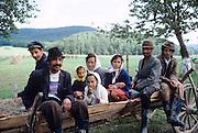Rural farm family in Northern Romania, 1986