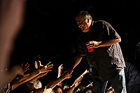 David Hidalgo of Los Lobos greets his fans after closing a show in Dublin, CA. Copyright 2008 Reid McNally.