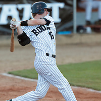 05 June 2010: Aaron Hornostaj of Rouen is seen at bat during the 2010 Baseball European Cup match won 10-0 by Fortitudo Bologna over the Rouen Huskies, at the AVG Arena, in Brno, Czech Republic.