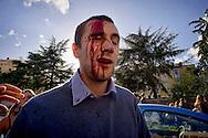 Roma 16 Ottobre 2015<br /> Un centinaio di studenti ha protestato in piazzale Aldo Moro, di fronte all'Università La Sapienza, la sede del  Maker Faire 2015, la fiera dell'innovazione europea organizzata all'interno dell'universita. I manifestanti denunciano l'uso privatistico di una struttura pubblica, l'interruzione delle attività di ricerca e la non trasparenza sull'uso dei ricavi. Un manifestante ferito dalla polizia durante le cariche.<br /> Rome 16 October 2015<br /> A hundred students protested in Piazzale Aldo Moro, opposite the University La Sapienza, the headquarters of the Maker Faire 2015, the European innovation fair organized within the university. Protesters denounce the  private use of a public facility, the interruption of research and lack of transparency on the use of revenues. A protester injured by police during the charged.
