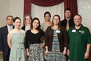 back row: Dr. Julio Arauz, Caitlyn John, Kelsey Davis, Devon Baum<br /> front row: Mary Nally, Kara Frisina, Dr. Joann Benigno, Dr. Robert Williams © Ohio University / Photo by Olivia Wallace