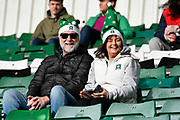 Plymouth Argyle fans inside Home Park Stadium wearing a Christmas hat before the EFL Sky Bet League 1 match between Plymouth Argyle and Accrington Stanley at Home Park, Plymouth, England on 22 December 2018.