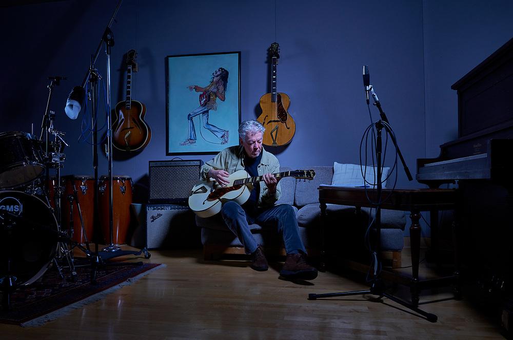 Brent Maher, Grammy Award winning producer in his studio in Nashville, TN