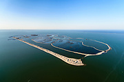 Nederland, Flevoland, Houtribdijk, 07-05-2018; Marker Wadden. Naast het hoofdeiland is er inmiddels een tweede eiland in wording, de uiteindelijk Marker Wadden archipel zal uit vijf eilanden bestaan.<br /> Doel van het project van Natuurmonumenten en Rijkswaterstaat is herstel van de ecologie in het gebied, met name de kwaliteit van bodem en water.<br /> Marker Wadden first phase of the construction, the main island, is finished. The aim of the project is to restore the ecology in the area, in particular the quality of soil and water.<br /> luchtfoto (toeslag op standard tarieven);<br /> aerial photo (additional fee required);<br /> copyright foto/photo Siebe Swart