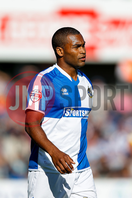 Jermaine Easter of Bristol Rovers looks on - Mandatory byline: Rogan Thomson/JMP - 07966 386802 - 12/09/2015 - FOOTBALL - Memorial Stadium - Bristol, England - Bristol Rovers v Accrington Stanley - Sky Bet League 2.