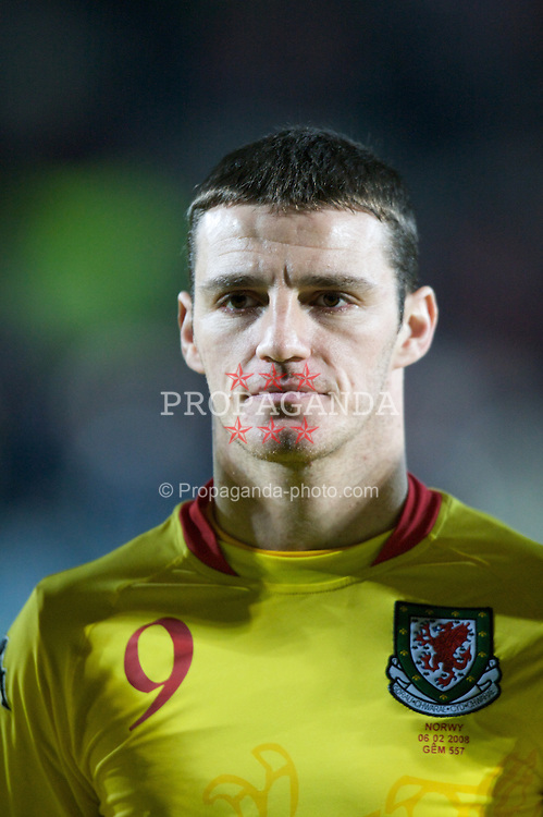 WREXHAM, WALES - Wednesday, February 6, 2008: Wales' Jason Koumas before the international friendly match against Norway at the Racecourse Ground. (Photo by David Rawcliffe/Propaganda)