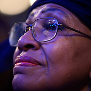 Illinois State Rep. Connie Howard cries as she listens to Michelle Obama speak on the first day of the Democratic National Committee (DNC) Convention at the Pepsi Center in Denver, Colorado (CO) Monday, Aug. 25, 2008.  ..Photo by Khue Bui