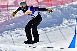 GEROS Garrett, SB-LL2, USA, Banked Slalom at the WPSB_2019 Para Snowboard World Cup, La Molina, Spain