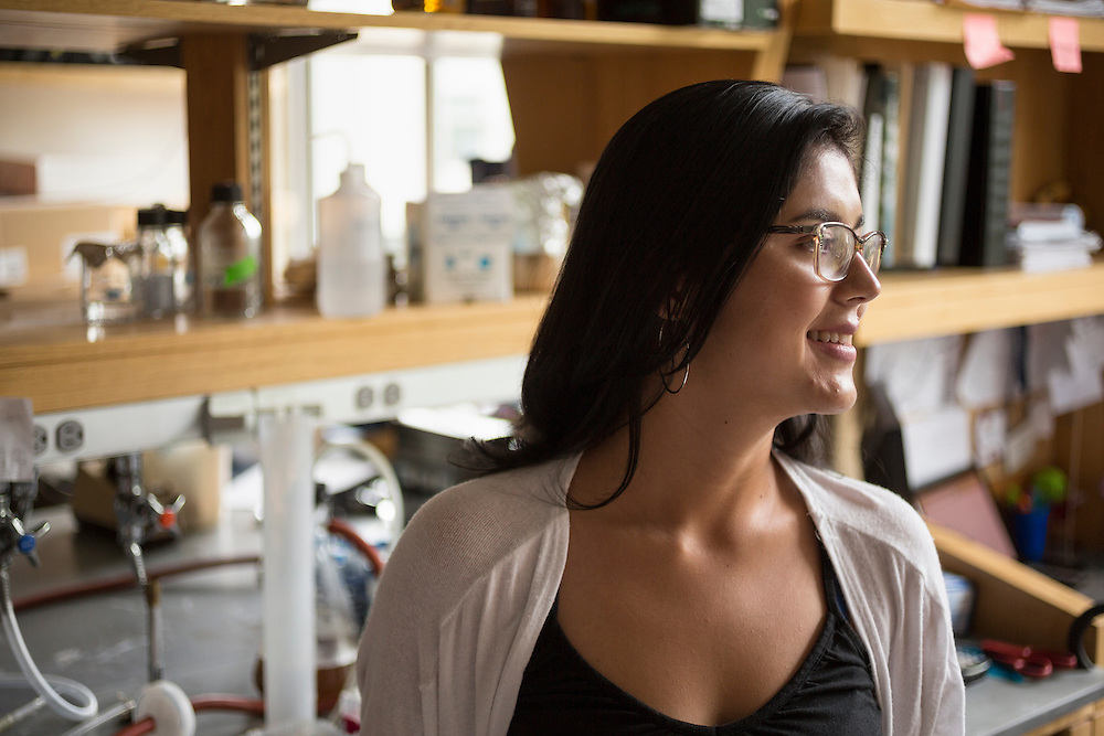 PhD student Monica Guitierrez in her lab at Duke University in Durham, North Carolina, Friday, June 24, 2016. Guitierrez emigrated from Colombia and worked her way through community college before enrolling at Duke to study genetics. Few college students from underrepresented groups seek doctorates, particularly in STEM fields. Duke University&rsquo;s medical school created the Office For Biomedical Diversity six years ago to see if they could change that equation. Now, not only are more minority students are entering Duke's biomedical PhD programs, but they&nbsp;are performing better once there.&nbsp;<br /> <br /> D.L. Anderson for The Chronicle of Higher Education