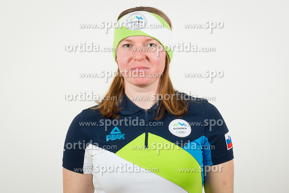 Marusa Ferk during the outfitting of the Slovenian Olympic Team for PyeongChang 2018, on January 29, 2018 in GH Union, Ljubljana, Slovenia. Photo by Urban Urbanc / Sportida