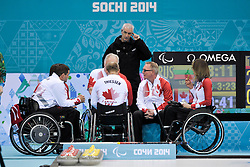 Dennis Thiessen, Sonja Gaudet, Wheelchair Curling Finals at the 2014 Sochi Winter Paralympic Games, Russia