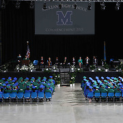 Thomas McKean High School graduates watch 49th commencement exercises Saturday, June 06, 2015, at The Bob Carpenter Sports Convocation Center in Newark, Delaware.