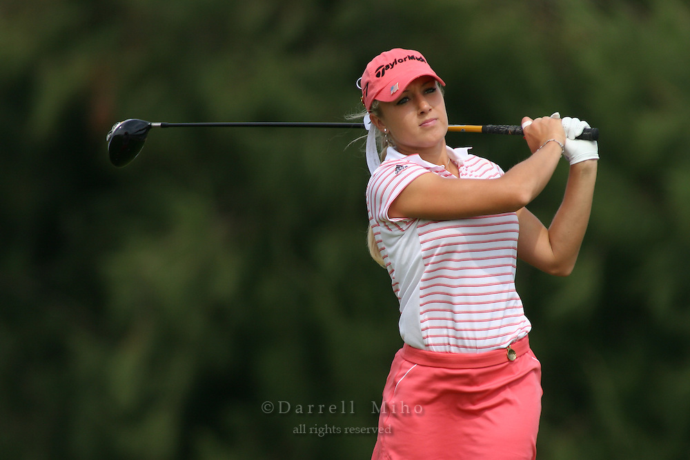 February 18, 2006; Kahuku, HI - Natalie Gulbis tees off during the final round of the LPGA SBS Open at Turtle Bay Resort...Mandatory photo credit: Darrell Miho.© Darrell Miho