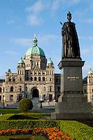 Queen Victoria Statue in Front of Parliament Building, Victoria, British Columbia