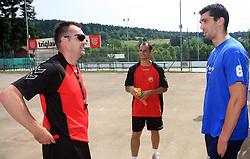 Desno Ognjen Backovic na obisku na otroski rokometni akademiji Urosa Zormana v Dolenjskih toplicah, 27. junija 2008, Dolenjske toplice, Slovenija. (Photo by Vid Ponikvar / Sportal Images)