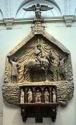Leonardo Marchioni De Malaspinis.  Monument  made ca 1430-1435 in stucco, marble, Istrian stone.Spinetta Malaspina was a military commander, who died in 1407. his heirs put this memorial in the church that pinetta founded in Verona.