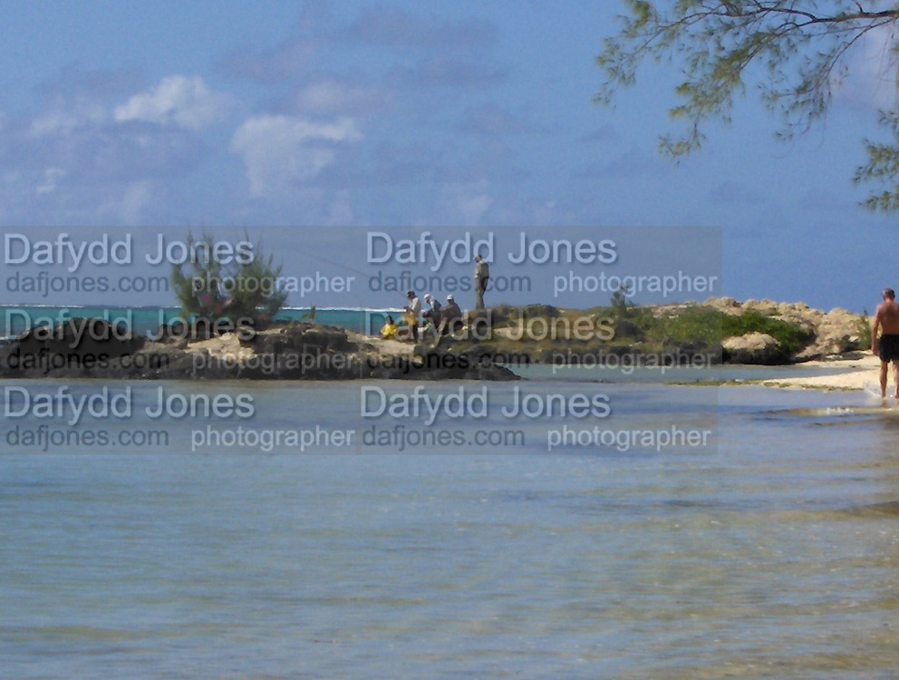 fishermen on the beach outside the PRINCE MAURICE HOTEL, Mauritius 2006.  *** Local Caption *** -DO NOT ARCHIVE-© Copyright Photograph by Linzi Jones. 248 Clapham Rd. London SW9 0PZ. Tel 0207 820 0771. www.dafjones.com.