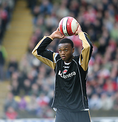 London, England - Saturday, March 3, 2007: Charlton Athletic's Osei Sankofa in action in the game with Watford in the Premiership match at Vicarage Road. (Pic by Chris Ratcliffe/Propaganda)