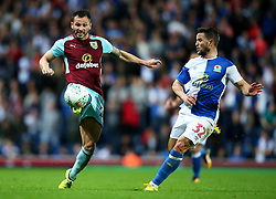 Burnley's Phil Bardsley and Craig Conway of Blackburn Rovers - Mandatory by-line: Matt McNulty/JMP - 23/08/2017 - FOOTBALL - Ewood Park - Blackburn, England - Blackburn Rovers v Burnley - Carabao Cup - Second Round